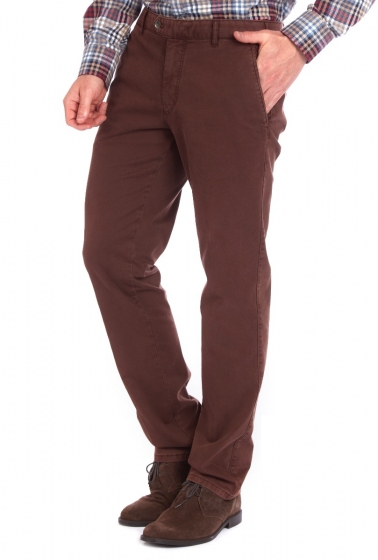 Pantaloni bărbați Meyer Bonn 6447 maroniu ruginit