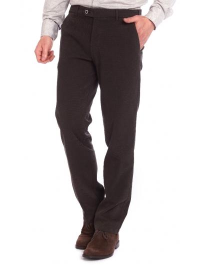 Pantaloni bărbați W. Wegener Eton 6530 Maro Închis
